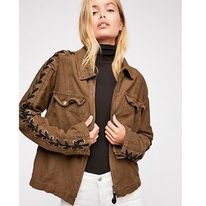 Free People Faye Military Jacket